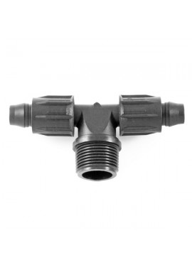 Tee with male threaded offtake