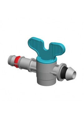 Valve with dripline-gasket offtakes, from LD PE pipe