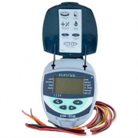 GALCON single-station controller with batteries and valve, powered by a single 9V battery