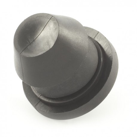 Plug with gasket for holes in PE LD pipe