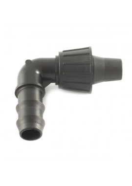 90° elbow adaptor, from LD PE pipe