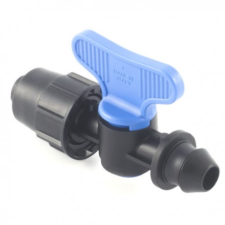 Valve with PN4-PN6* quickjoint-gasket offtakes, from LD PE pipe