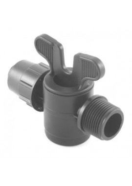 Valve with PN4-PN6* quickjoint-male thread offtakes