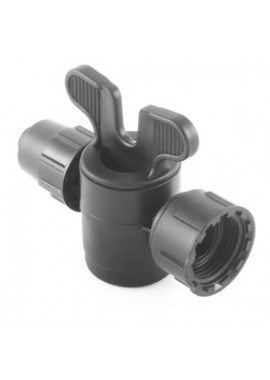 Valve with PN4-PN6* quickjoint-female thread with swivel nut offtakes