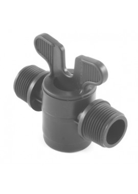 Valve with male threaded offtakes