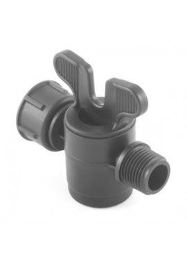 Valve with male-female with swivel nut threaded offtakes