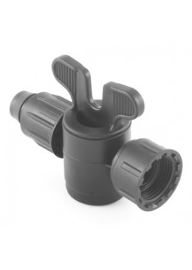 "Valve with ""Poly"" dripline-female thread with swivel nut offtakes"