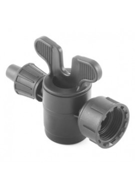 Valve with dripline-female thread with swivel nut offtakes