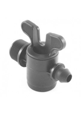 Valve with male thread-gasket offtakes, from LD PE pipe