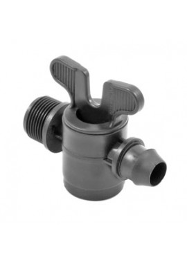 Valve with male thread-gasket XL offtakes, from LD PE pipe
