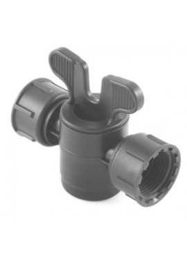 Valve with female threaded with swivel nut offtakes