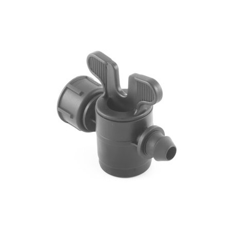 Valve with female thread with swivel nut-gasket offtakes, from LD PE pipe