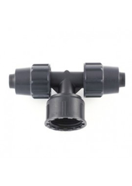 Tee with female threaded offtake, with swivel nut