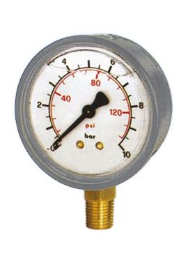 Glycerine manometer, stainless steel boby