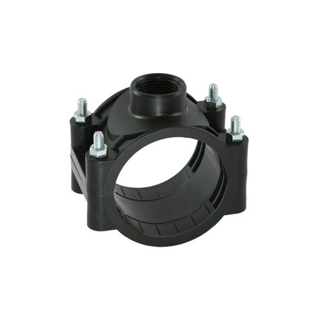 PN10 clamp saddle, for PE and PVC pipes