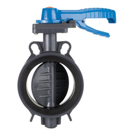 Handle operated butterfl y valve