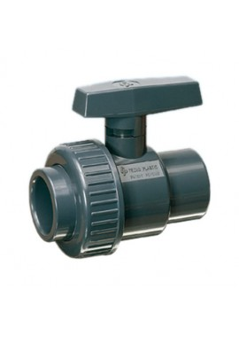 Non safeblock water ball valve, single union ISO F-F solvent cement