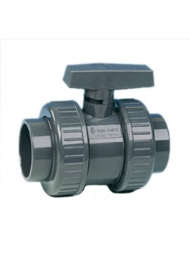 Non safeblock water ball valve, double union ISO F-F solvent cement