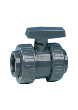Non safeblock water ball valve, double union BSP F-F threaded