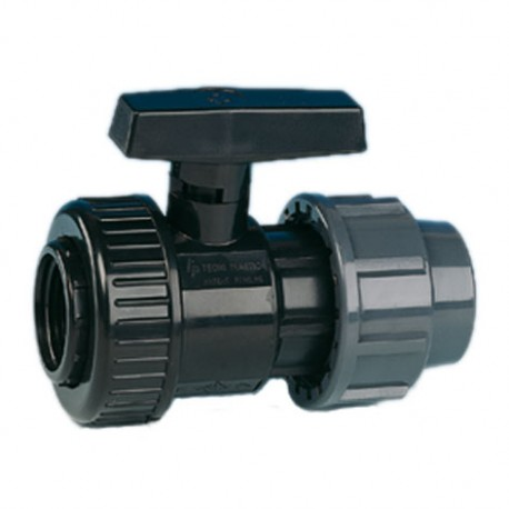 Irrigation black ball valve, with quick joint