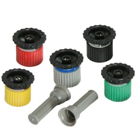 Adjustable arc nozzles from 0° to 360°, F thread